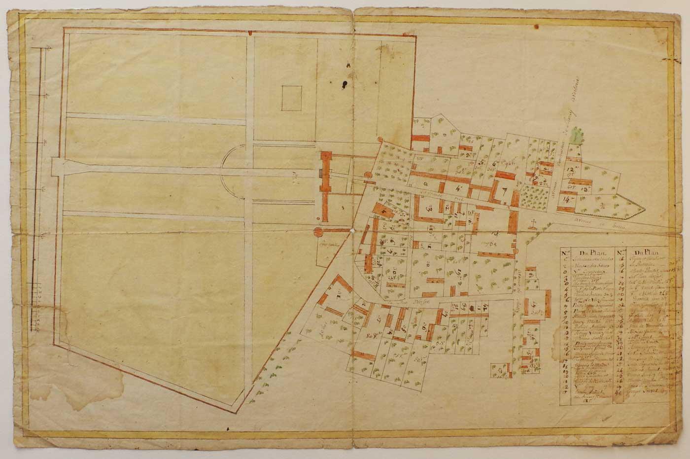 plan-village-Raray-et-château-Ancien-Régime